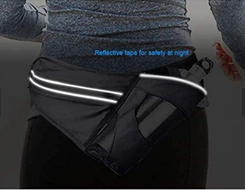 Runners Fanny Pack for Men and Women Waterproof Fitness Workout Waist Pack Bag Running Hydration Belt Bag with Water Bottle /& Phone Holder Sports Pouch Bum Bag with Dog Leash Hook