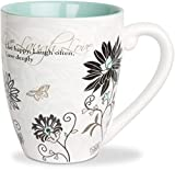 Pavilion Mark My Words Live, Laugh, Love Mug, 20-Ounce, 4-3/4-Inch