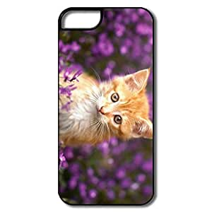 Cat Flower Vintage Pc Cases For IPhone 5/5s