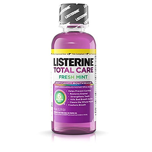 Travel Size Mouthwash - Listerine Total Care Fresh Mint 3.2 Oz (3 Pack)