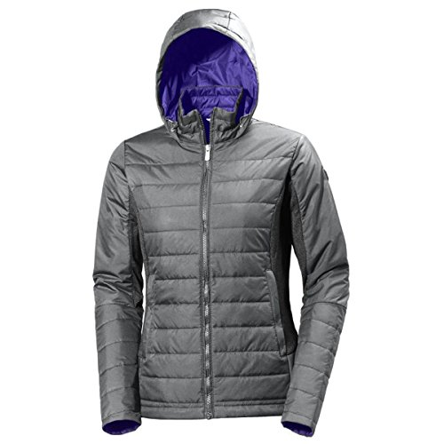 Helly Hansen W Astra Hooded - Chaqueta con capucha para mujer gris (rock)