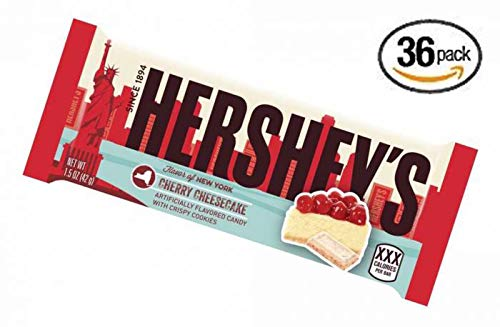 Hershey's Limited Edition Cherry Cheesecake Flavor Candy Bar, Flavor of New York Chocolate, 1.5 Ounces (36 Pack) -