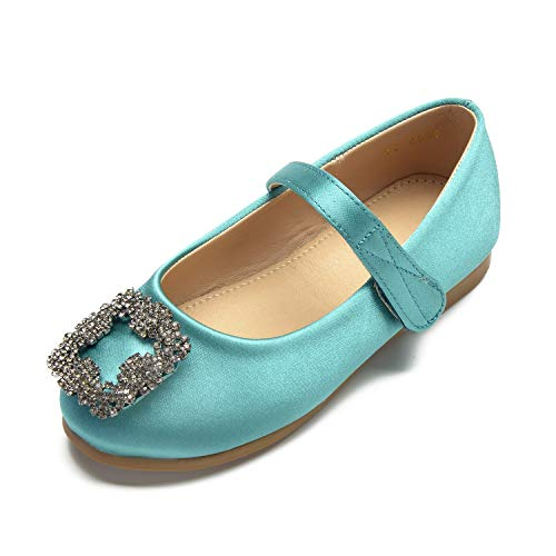 Platform Women Party Wedding Green Formal YC Children's Shoes Toe New L Round Closed Buckle nfZwCq6xH