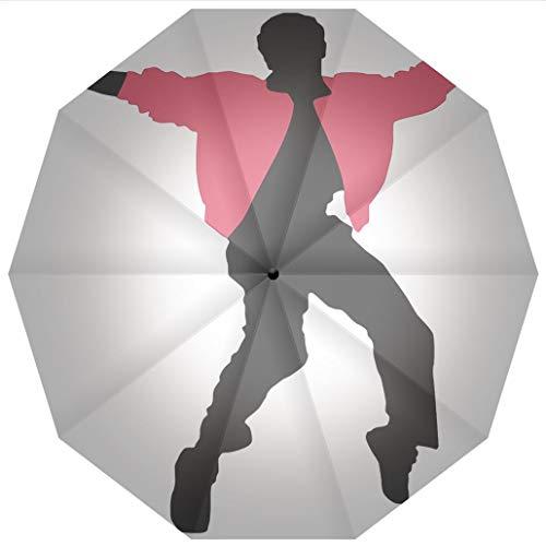 Compact Travel Umbrella UV Protection Auto Open Close Elvis Presley Decor,American Artist King Icon Blues Performer Singer Windproof - Waterproof - Men - Women -Lightweight- 45 -