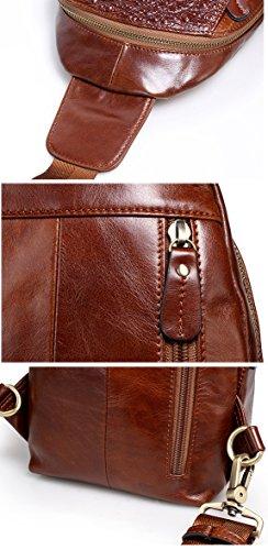 Marrón marrón bandolera hombre Bolso Borgasets ZwFtU5