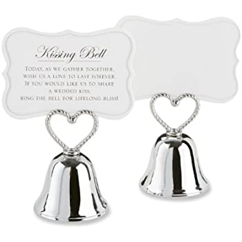 Kate Aspen Set Of 24 Kissing Bells Place Card Holders