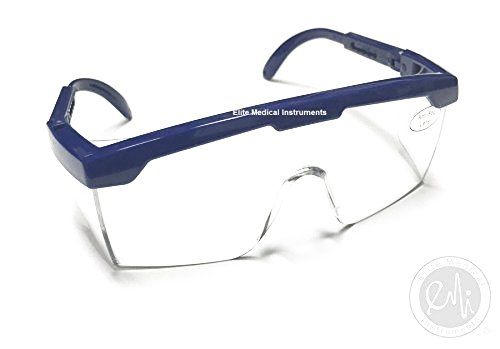 EMI # 411 BLUE Full Frame Adjustable Eyewear Safety Glasses