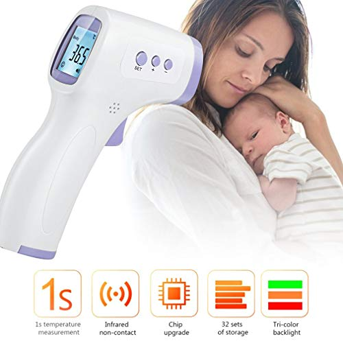 【Fast Delivery】Digital Thermometer, Forehead Thermometer Infrared Touchless LED Display in 1 Second Digital Thermometer Temperature Gun with Fever Alarm for Adult Baby Kids Body