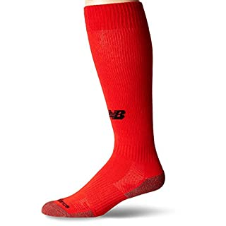 New Balance Unisex Performance All Sport Over the Calf Socks, Large, Velocity Red