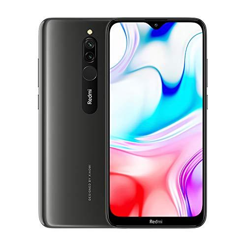 "Xiaomi Redmi 8 Teléfono 4GB RAM + 64GB ROM, Pantalla de caída de Puntos de 6.22 "", procesador Snapdragon 439 Octa-Core, cámara Frontal Dual de 8MP y cámara Trasera Dual AI de 12MP + 2MP (Negro)"