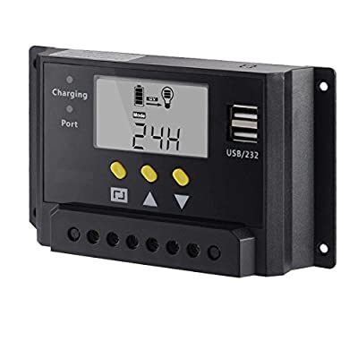 YueYueZou® 30 Amp PMW Solar Charge Controller Intelligent Display