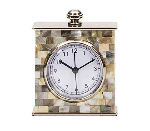 (XHCP Desk Clock American Style Living Room Decoration Decoration Creative Fashion Bedroom Desktop Mother-of-Pearl Clock Clocks )