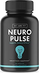 Neuro Pulse Extra Strength Supplement, Brain Function Support For Memory, Focus & Clarity - Mental Performance Nootropic - Brain Booster With Dmae, Huperzine A, Vitamins, Minerals, 60 Caps