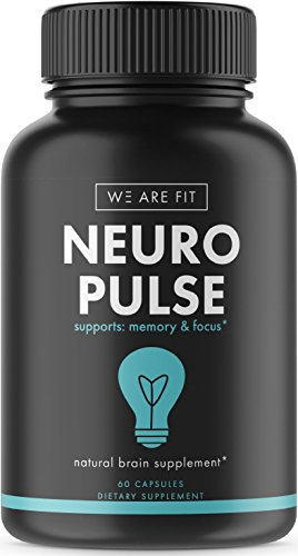 Neuro Pulse Extra Strength Supplement, Brain Function Support for Memory, Focus & Clarity - Mental Performance Nootropic - Brain Booster with DMAE, Huperzine A, Vitamins, Minerals, 60 caps by We Are Fit