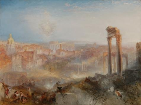 Oil Painting 'Modern Rome-Campo Vaccino, 1839 By Joseph Mallord William Turner' Printing On High Quality Polyster Canvas , 10x13 Inch / 25x34 Cm ,the Best Gift For Relatives And Home Artwork And Gifts Is This Best Price Art Decorative Canvas Prints