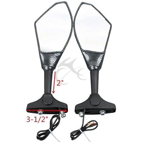 TCMT Carbon LED Turn Signal Mirrors Fits For Kawasaki Ninja ZX14 ZZR1400 ZX-10R 2006-2011