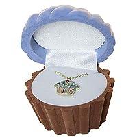 Collar colgante de esmalte Cuties de cupcake en caja de regalo de figuras (se vende individualmente)