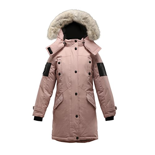Triple F.A.T. Goose Embree Girls Down Jacket Parka with Real Coyote Fur (12, Pink) by Triple F.A.T. Goose