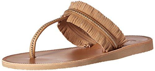 Joie Women's Maisie Flat Sandal, Sabbia/Silver, 38 EU/8 M US by Joie