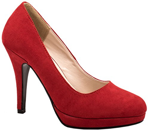 Elara - Plataforma Mujer Rojo - rojo