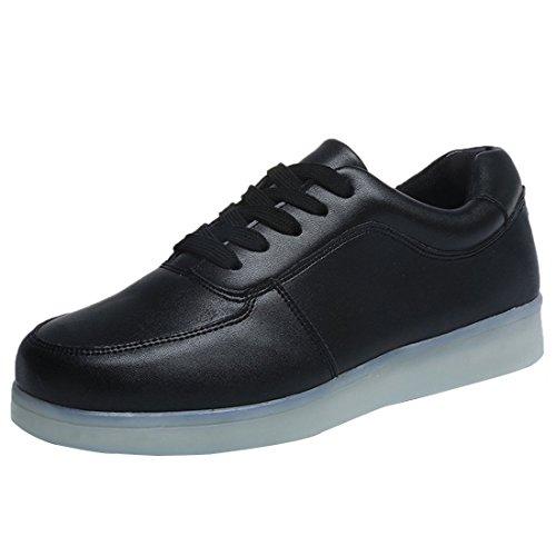 de hombre Presente 7 carga luces zapati USB Light deportes de calzado zapatillas toalla JUNGLEST® techo Shoes c31 intermitentes de para color pequeña LED TX7qTxFv