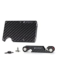 Ultimate EDC Bundle, Minimalist Carbon Fiber Wallet Card Holder and Key Organizer