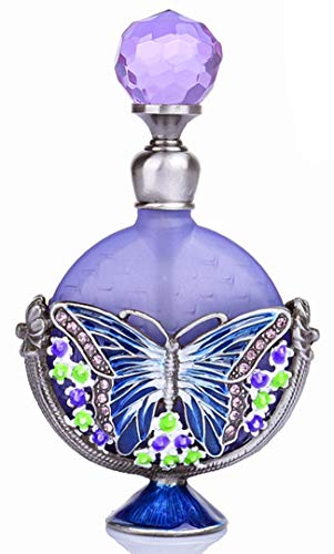 Ancient Perfume Bottles - Vintage Perfume Bottles Empty Refillable Butterfly Pattern Restoring Ancient Antique (7ml)