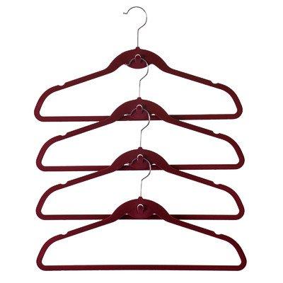 Red Lion Cascade - ClutterFREE Hangers Cascade Hanger Set, Burgundy, 72-Pack