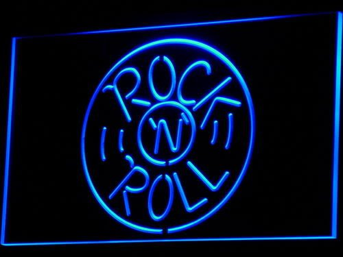 ADV PRO i489-b Rock and Roll Musics Punk Bar Pub NEW Light - Led Rolls Sign