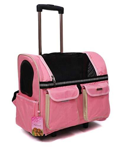 HONG SHENG Carino Trasporto Pet Trolley Trolley Trolley e Zaino Elegante,1 fc4ab6