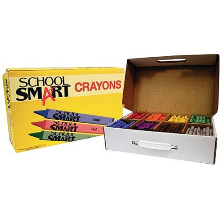 School Smart Large Non-Toxic Crayons, Pack of 400