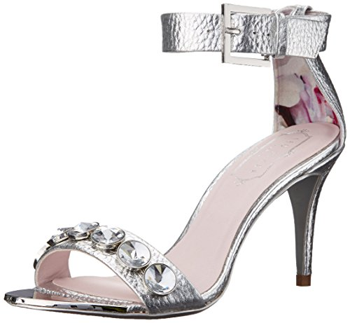 Women's Sanswa Baker Ted Sandal Dress Silver qw8xxB
