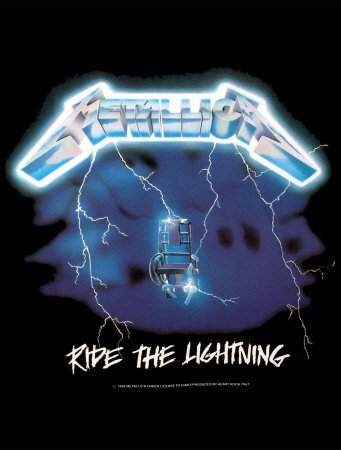 Metallica - Ride The Lightning Fabric Poster Print, 30x40 Fabric Poster Print, 30x40