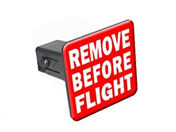 Remove Before Flight Tow Trailer Hitch Cover Plug Insert 2