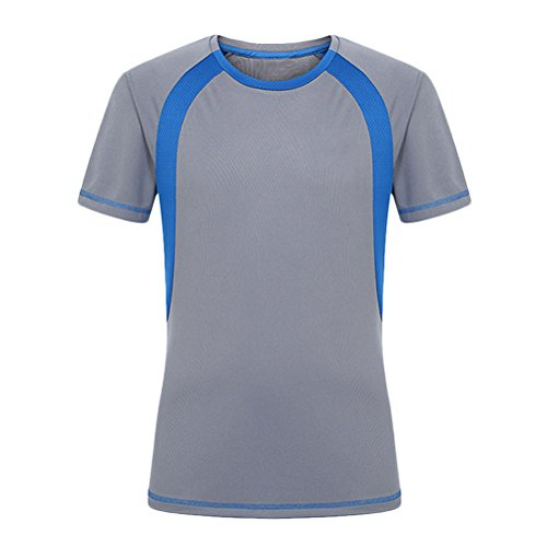 Shirt Sleeve gris Dry Zhhlaixing Quick Short T Men Sports wXnq8PAxS0