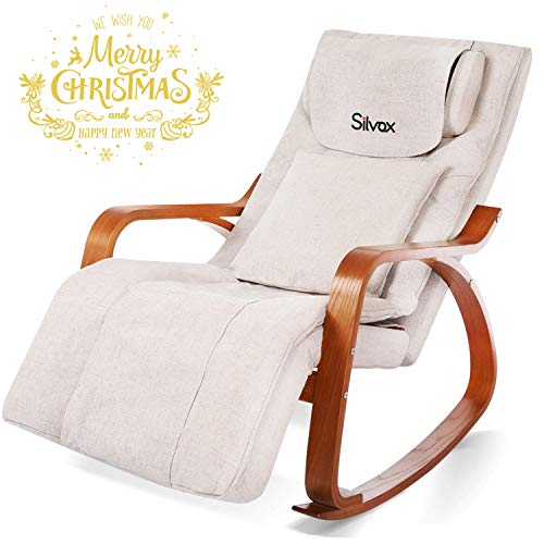 Silvox Massage Chair Recliner - Shiatsu Back Neck and Shoulder Massager with Heat- Deep Kneading Rollers Self-Massager Seat with Vibration, Electric Full Body Massage Chair, Relieve Muscle Pain, Home