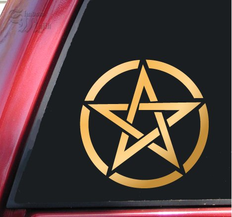Pentagram Vinyl Decal Sticker (6
