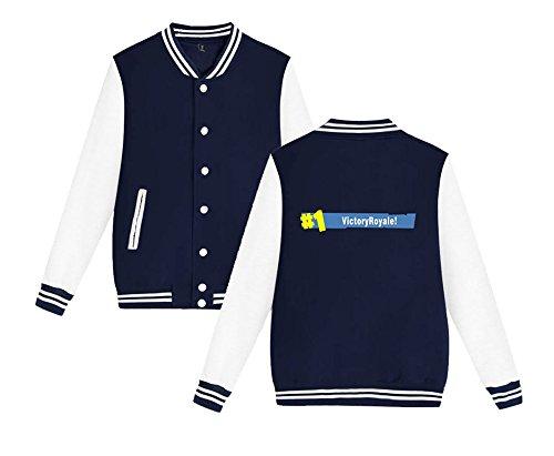 Moda Da Sweatshirts Blue7 Stampate Allentato Uomini Aivosen Leggera Per Giacca Baseball Casual Comode E Fortnite Dark Unisex Donne qwxtRBp