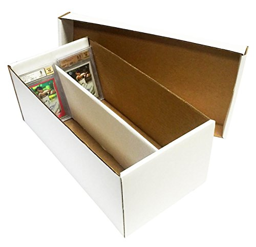 - (1) Graded Shoe 2-Row Cardboard Storage Box - Baseball, Football, Basketball, Hockey, Nascar, Sportscards, Gaming & Trading Cards Collecting Supplies by MAX PRO - GSB