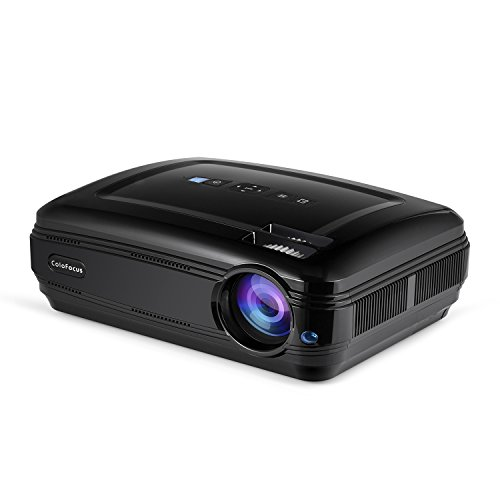 Projector, Home Video HD Projector with 1080P Supported, 1280x768 Resolution LCD Projectors for Home Cinema Theater/Computer/TV/Laptop/Gaming/SD/iPad iPhone/Android Smartphone]()