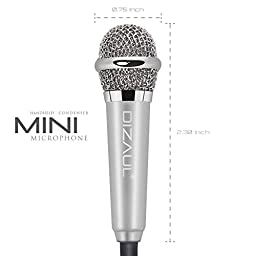 Mini Microphone,Dizaul Omnidirectional Stereo Mic for Voice Recording,Chatting for iPhone,Samsung,Cellphones,Tablets,Laptops,Computers(white)
