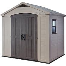 Keter Factor Large 8 x 6 ft. Resin Outdoor Backyard Garden Storage Shed