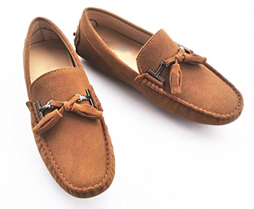 Penny TDA Suede Loafers Light Tan Driving Mens Boat New Tassel Shoes ArBwaYBq
