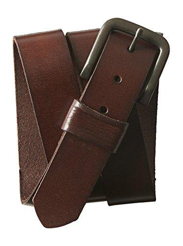 Aeropostale Men's Solid Core Leather Belt M Coyotoe Brown