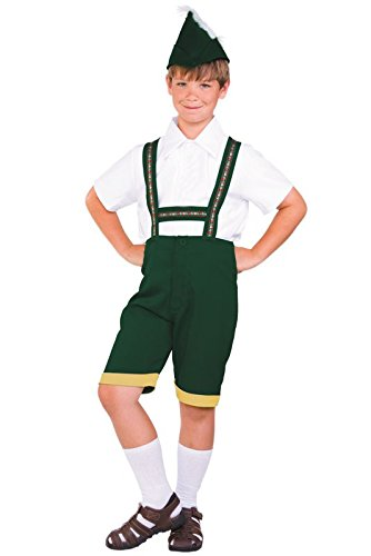 RG Costumes Bavarian Boy Costume, Green/Yellow/White, Small