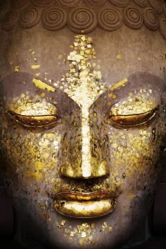 Buddha - Golden Face Inspirational Poster World Culture Poster Print, 24x36 (Face Posters)