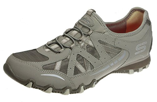 - Skechers Bikers Carry On Womens Fashion Sneakers, Taupe, 9.5 US