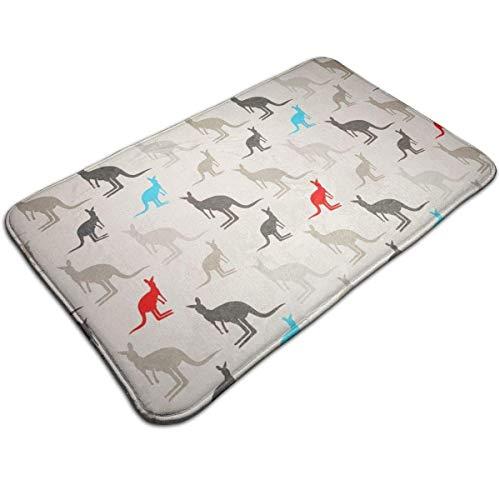 Absorben Anti-Slip Bathtub Mat Indoor/Outdoor/Frontdoor/Home Decor Perfect for Bedroom/Livingroom/Diningroom/Playroom/Kitchen Australia Kangaroos (Australia Ideas Back Patio)