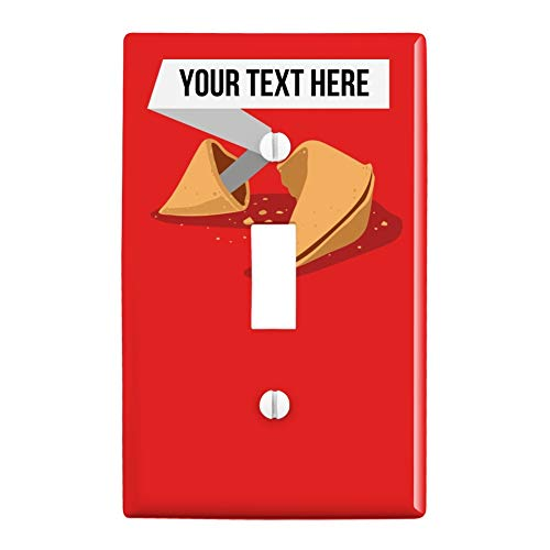 GRAPHICS & MORE Personalized Custom Fortune Cookie Plastic Wall Decor Toggle Light Switch Plate Cover
