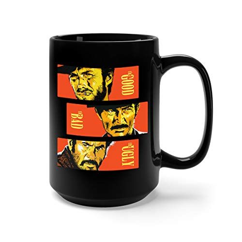 The Good, The Bad and The Ugly Ceramic Coffee Mug Tee Cup (15oz, Black) -